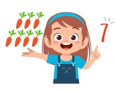 Number Words Worksheets, Math Numbers, Kids Cartoon Characters, Cartoon Kids, Art Drawings For Kids, Art For Kids, Teacher Cartoon, Boy Illustration, Cute Paintings