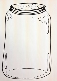 My take on the fingerprint bug jar. Preschool art.