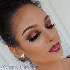 Beautiful @dmariemakeupme ・・・ Makeup Details Eyes: @juviasplace Nubian 2 Palette