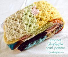 Things to Make: Stashbuster Crochet Scarf - Free Pattern!   Sarahndipities