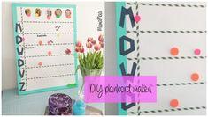 Zo maak je zelf een cool planbord van een oud (of nieuw) whitebord (van Ikea), met gekleurd ducktape, washitape, gekleurde magneetjes en foto's van gezinsleden. #DIY van: www.mamamaai.nl @mayadeby