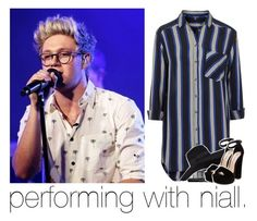 """performing with niall."" by girlalmightysyd ❤ liked on Polyvore featuring Topshop, San Diego Hat Co. and Steve Madden"