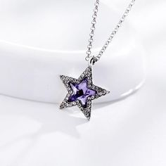 Saphire Star Necklace - Ashley Jewels