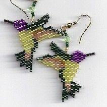 Costa Hummingbird Earrings by Edithscustomcrafts on Etsy, $14.99