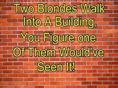 Blonde wall