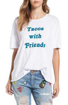 Project Social T 'Tacos with Friends' Oversize Tee available at #Nordstrom