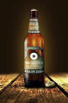 Fresh beer bottle mock-up (Custom)