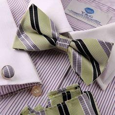 Multicoloured Vintage Bow Tie Club Bow Ties, Country Bowties Dark Khaki Stripes Silk Pre-tied Bowtie, Cufflinks, Hanky Present Box Set By Epoint EBC1027 Epoint,http://www.amazon.com/dp/B008DB5VYS/ref=cm_sw_r_pi_dp_36-1qb0HKPH4KJCM  -  At Amazon