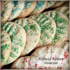Butter cookies are a quick and easy go-to cookie for the holidays! #cookies #holidays