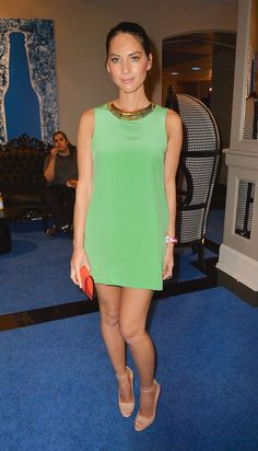 Olivia Munn refreshing green