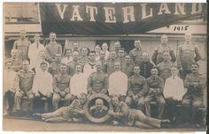 WW1 German Ship Vaterland RPPC with Crew Postcard SS Leviathan