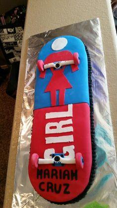 GIRL skateboard Cake