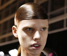High fashion: Alexander Wang sent models down the runway for his Fall 2014 show with bleac...