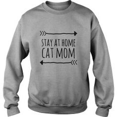 STAY AT HOME CAT MOM TSHIRT