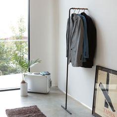 Tower Leaning Slim Coat Hanger in Various Colors design by Yamazaki – Hanger rack Hanger Rack, Coat Hanger, Wall Coat Rack, Coat Racks, Clothes Rail, Clothes Hanger, Displays, Open Wall, Minimal Design