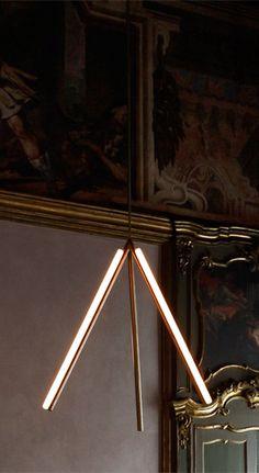 Michael Anastassiades, 'Lit Lines, Pendant Light Nilufar Gallery Linear Lighting, Cool Lighting, Modern Lighting, Lighting Design, Pendant Lighting, Office Lighting, Industrial Lighting, Lighting Ideas, I Love Lamp