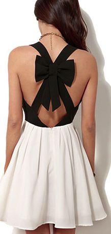 Crossback Bowknot Low Cut Tank Dress