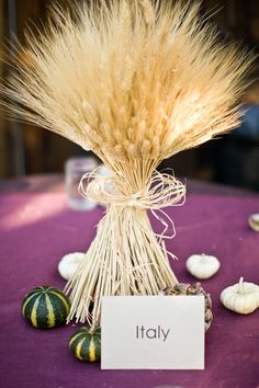 wheat! fall wedding centerpieces