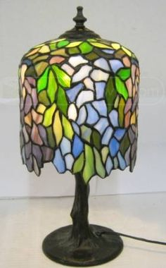 Willow Tree Shaped Stained Glass Lamp - I am in love with this.