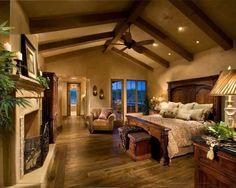 Que habitación tan cálida.