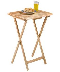 Buy Single Folding Tray Table - Natural at Argos.co.uk - Your Online Shop for Occasional and coffee tables.