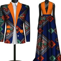 Matching Couple Outfits, Matching Couples, Mens Fashion Blazer, African Men Fashion, African Print Dresses, Wedding Matches, Dashiki, Cute Outfits, Bridesmaid