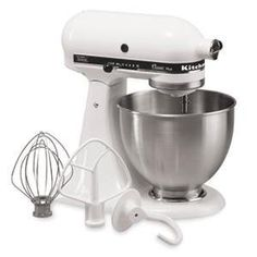 New Made in USA Kitchenaid Classic Plus Ksm75wh 10speed Stand Mixer White One Day Shipping Good Gift Fast Shipping by KitchenAid