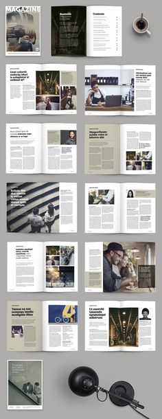 Corporate magazine design template by patastock on @creativemarket