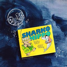 """Sharko and Hippo is so much fun to read, and that's a good thing because my nephew made me read it to him 7 times in a row the first time around. He loves this book. And I love books that have exclamatory questions and absurdity to play with. Makes my """"performance"""" of the book so much fun. 😜  📸 @theliteraryllama"""