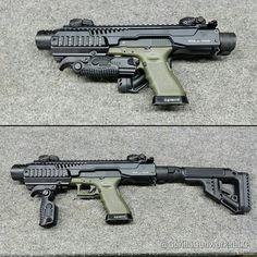 SBR conversion kit for glock. (posted by @gorillagunworksllc) #glockfanatics #glockporn #glockmods #glockperfection