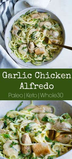 You'll love this dairy-free, lightened up variation of Chicken Alfredo! Serve … You'll love this dairy-free, lightened up variation of Chicken Alfredo! Serve over vegetable noodles for a complete Paleo dinner the whole family will love! Pollo Alfredo, Chicken Alfredo, Alfredo Sauce, Alfredo Recipe, Dieta Paleo, Diet Recipes, Cooking Recipes, Healthy Recipes, Cooking Tips