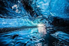 3- To walk inside ice caves is a once-in-a-lifetime experience, especially because  the biggest glacier in Europe is situated in Iceland. If you plan on going to Iceland in winter, you shouldn't miss trekking inside the ice caves! Situated near Reykjavik, we would recommend you booking a guide for a one-day thinking tour. We can guarantee, you will be amazed by the beauty!