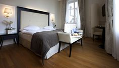 Superior Room at hotel Château d'Ouchy - Lausanne Lausanne, Superior Room, Lake Geneva, Bed, Furniture, Home Decor, Decoration Home, Stream Bed, Room Decor
