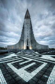 An awesome and unique church in Hallgrimskirkja  from #treyratcliff at www.StuckInCustom... - all images Creative Commons Noncommercial