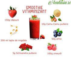 Proaspăt şi delicios, descoperiți acest smoothie multi-vitaminizant!🙏💪🥤🍓 ✔Fructe de pădure, pline de antioxidanți ✔Pulbere de Camu Camu, cea mai bogată în vitamina C ✔Pulbere de Schisandra, excelent tonic general şi adaptogen Aceste ingrediente, asociate cu beneficiile laptelui de migdale, nu pot fi decât bune pentru organism. __________________________ • • • • • #healaria #vindecareprinplante #healthygoals #healthiswealth #smoothierecipes #retetesmoothie #smoothiesanatos #camucamu… Cantaloupe, Fruit, Instagram, Food, Essen, Meals, Yemek, Eten