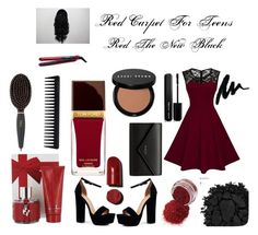 """Red the New Black"" by blesswith on Polyvore featuring Boohoo, Urban Decay, Balenciaga, Marc Jacobs, Tom Ford, Bobbi Brown Cosmetics, Carolina Herrera, GHD and Remington"