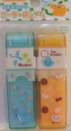 53433d61dd9f Japanese Kawaii Blue Strawberry and Orange Cupcake Roller Erasers Set .   6.00. Japanese Kawaii Blue Strawberry and Orange Cupcake Roller Erasers  Set.