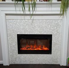 13 Best Mother Of Pearl Tile Used Around The Fireplace