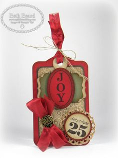 Stampin' Up! Christmas  by Beth Beard at My little craft blog: Joy Christmas Tag