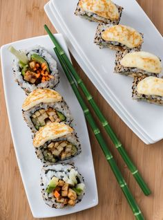 Geneviève Everell's Tofu, Ginger and Grilled Cheese Vegetarian Maki Recipes Vegetarian Sushi Rolls, Vegetarian Recipes, Healthy Recipes, Healthy Food, Cooking Recipes, Yummy Food, Asian Recipes, Mexican Food Recipes, Ethnic Recipes
