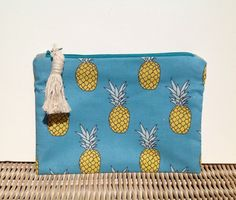 "Noosa pineapple purse - small.  20cm (8"") x 16cm (6 1/2"") by ivyandcodesigns on Etsy"