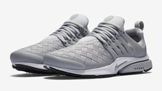 This new Nike Air Presto features a woven upper in Wolf Grey along with white and black accents.