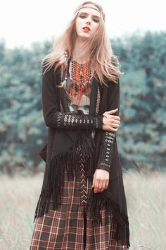 Stylish Tassel Open Front Coat