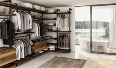 A guide to style & life from the premier home decor store in Richmond, VA. Introducing the Gravity Wall System to conquer the clutter. Joel Dupras at Huppe in Bedroom Closet Design, Closet Designs, Bedroom Decor, Garderobe Design, Dressing Design, Wardrobe Systems, Walking Closet, Modern Closet, Closet System