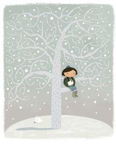 winter tree girl...