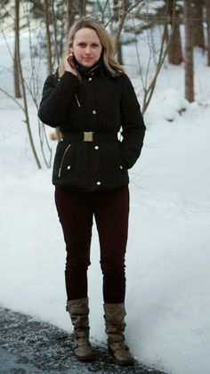 Glitterary Girl www.glitterarygirl.blogspot.com @Winters FamBam #uniqlo #colehaan #puffercoat #callitspring #coloreddenim
