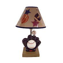 If baby's a boy Baseball Lamp, Kids Lamps, Baby Bundles, Nursery Themes, Kids Room, Baby Boy, Table Lamp, Shades, Boys