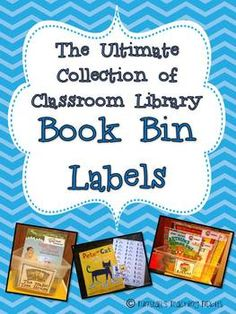 This is a collection of 150 classroom library book bin titles and labels for setting up a classroom library in a K-2 classroom.  Each book bin ...