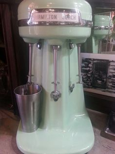 1950's Hamilton Beach Milkshake & Malt mixer... IT WORKS! we use this in our Old Fashion Ice Cream Parlor, & we have 3 more! ALL FOR SALE