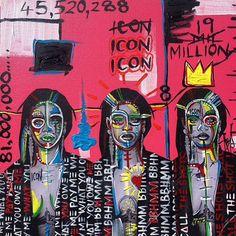 I Call The Shots ..... @badgalriri  #rihanna #art #mixedmedia #graffiti #style #fashion #Icon #BBHMM .....